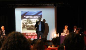 """Présentation du livre """"De la Résistance à la Libération dans le Canton de Moret"""" à l'Astrolabe de Melun."""