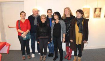 Andrée Grammatico et Jacques Bel accompagnés de quelques organisateurs.