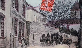 La rue de l'Eglise en 1910.