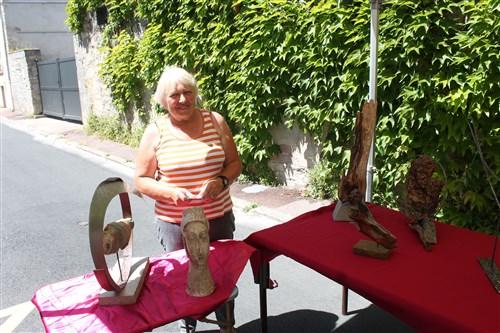 Chantal Fournier, sculpteur et Présidente de Goûter d'Art.