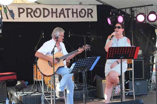 Les Improbables en concert à Villecerf.