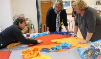 Atelier participatif pour la création d'un tapis à histoire pour les bibliothèques